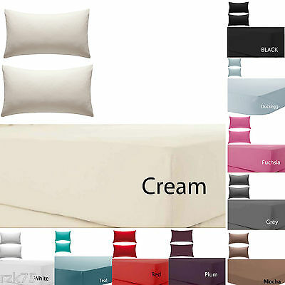 Olivia Rocco Percale Extra Deep Fitted Sheet, Non Iron, 180 TC, 12 (30cm) Box • 3.95£