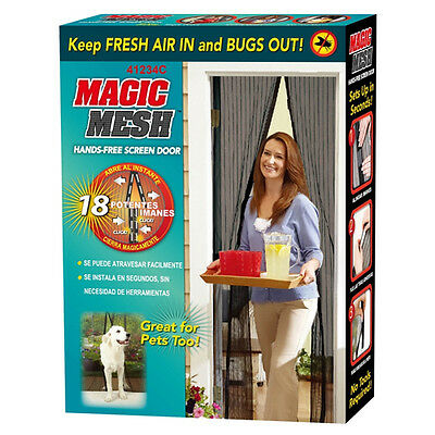 £5.95 • Buy Magic Mesh Magnetic Curtain Hands Free Net Screen Fly Mosquito Insects Bugs Door