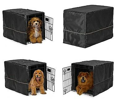 $43.89 • Buy Black Opaque Dog Crate Cover Selections - Quiet Night Time Den Like Security