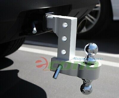 $72.99 • Buy Aluminum 6  Drop Adjustable Tow W/Dual Hitch Ball 2 ,2-5/16  FitTrailer Receiver
