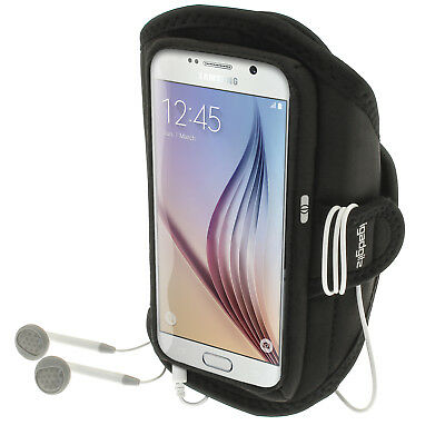 Sports Jogging Armband For Samsung Galaxy S6 SM-G920 & S7 SM-G930 Fitness Case • 2.59£