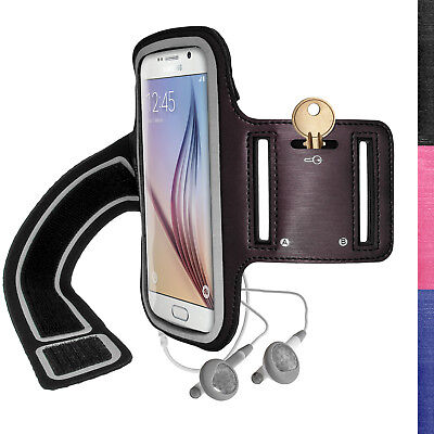 Jogging Sports Armband For Samsung Galaxy S6 SM-G920 & S7 SM-G930 Fitness Case • 2.69£