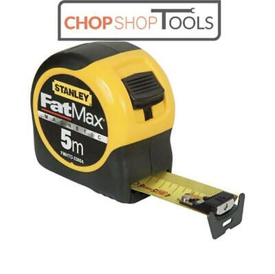 Stanley 033864 FatMax Magnetic 5m Tape Measure METRIC ONLY FMHT0-33864 • 20.62£