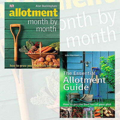£42.99 • Buy Gardening Books Collection Allotment Guide 2 Books Set,Allotment Month By Month