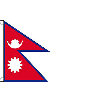 £4.99 • Buy Nepal Flag 5 X 3 FT - 100% Polyester With Eyelets - Large Nepalese National