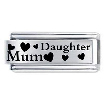 Daisy Charm 18mm Mum & Daughter Family * Compatible With Italian Charm Bracelets • 5.25£