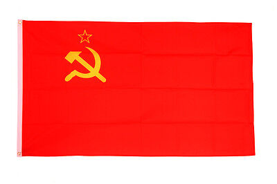 USSR Flag Large 5 X 3' - Soviet Union Communist Socialist Russia Hammer Sickle • 4.99£