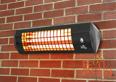 Firefly 1.8kW Wall Mounted Electric Outdoor Patio Heater Winter Warmth Garden • 44.99£