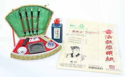 US Complete Chinese Calligraphy Brush Pen Paper Ink Writing Painting Sumo BoxSet • 18.44£