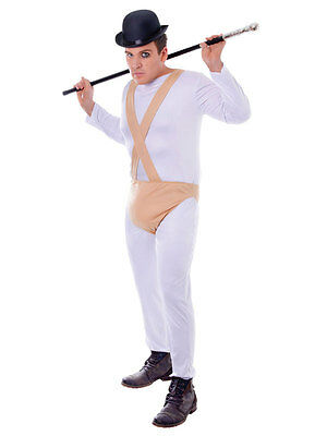 Clockwork Orange Costume Male Prisoner Jumpsuit Gents New Fancy Dress Outfit • 19.59£