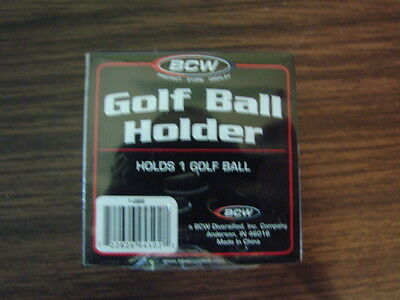 BCW (1) Golf Ball Display Case Stackable Square Cube Holder Stand Golf Ball • 5.01£
