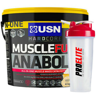 £52.99 • Buy USN Muscle Fuel Anabolic All-In-One Lean Muscle Gainer 4kg & 5.32kg+Free Shaker