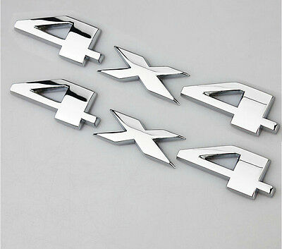 $11.39 • Buy 2x Chrome 4 X 4 3D Decal Emblems Sticker For Fits Grand Cherokee