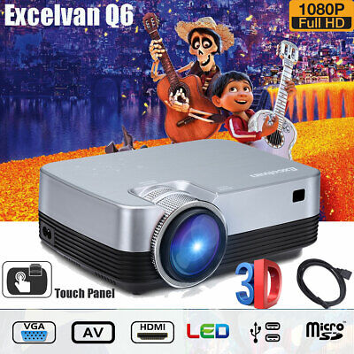 AU109.99 • Buy Portable Multimedia Video LED Projector Home Cinema Theater 1080P HD 3D HDMI USB