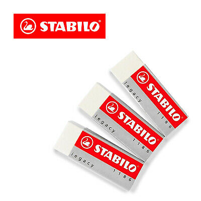 Stabilo Legacy Mars Erasers Plastic Rubber Erasers - Pack Of 3  • 2.99£