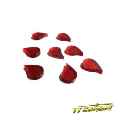 TTCombat Wargames - Wound Markers - Blood Drops X 8 • 1.96£