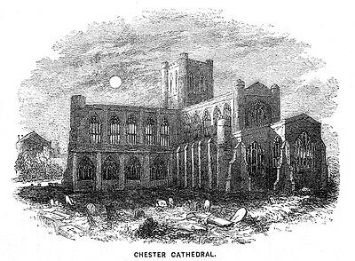 £6.95 • Buy CHESTER Cathedral - Antique Print 1860
