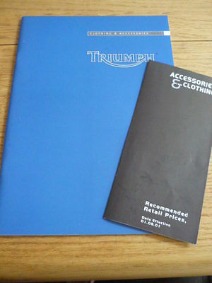 TRIUMPH 2002 CLOTHING AND ACCESSORIES RANGE MOTORCYCLE BROCHURE Jm • 6.99£