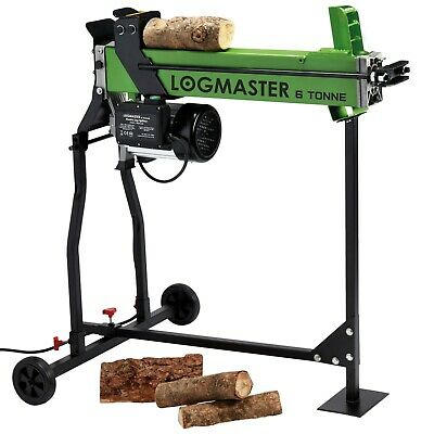 Logmaster  Electric Hydraulic Log Splitter & Stand 6 Ton Fire Wood Timber Cutter • 309.99£