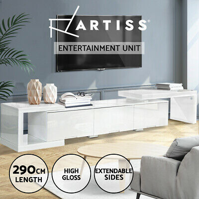 AU299.95 • Buy Artiss 290CM TV Cabinet Entertainment Unit Stand High Gloss Lowline White