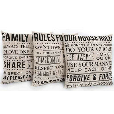 40cm Pillow Bed Sofa Home Decor Car Waist Back Cushion Cover Gift Quote Decor • 4.99£