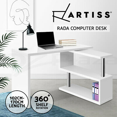AU133.95 • Buy Artiss Computer Desk Office Desk Study Corner Table L-shape Workstation Student