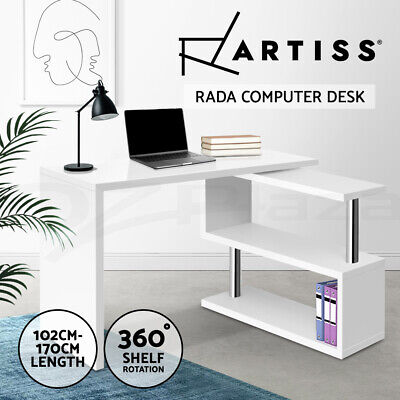 AU199 • Buy Artiss Office Computer Desk Study Corner Table Workstation Bookshelf Student