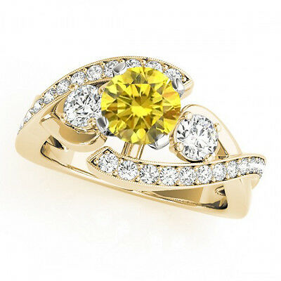 1.16 Carat Yellow Canary Diamond Solitaire Engagement Ring 14k Yellow Gold Deal • 819.09£
