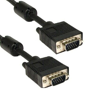 SVGA / VGA Monitor Cable MALE TO MALE Lead TRIPLE SHIELDED 15pin FULLY WIRED • 12.99£