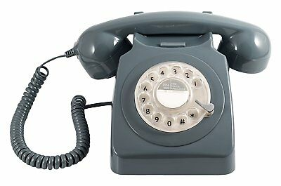 Retro Corded Telephone Landline GPO 746 Phone With Working Rotary Dial - Grey • 35.61£