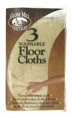 3 Washable Floor Cloths Dusters - Clean & Dust - Made From Recycled Materials • 2.29£