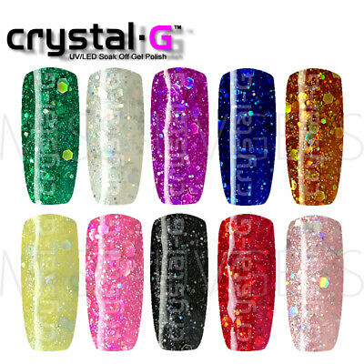 Crystal-G Nails London DIAMOND GLITTERS UV/LED Soak Off Varnish Gel Nail Polish  • 3.70£