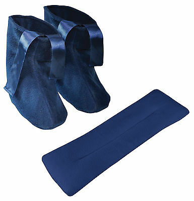 £12.99 • Buy Blue Microwavable Heat Up Slippers & Neck Relax & Pain Releif Warmer Cushion Set