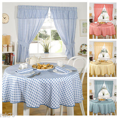 £8.95 • Buy Molly Gingham Check Kitchen Linen In 4 Colours, Tablecloths & Curtains