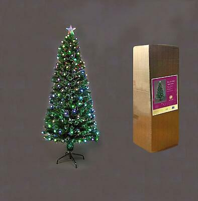 Pre Lit Christmas Tree LED Fibre Optic Lights Up Xmas Home Decorations Berries • 29.99£