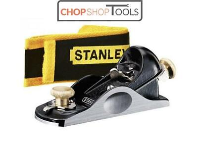 STANLEY Bailey 6 1/4  (160mm) Adjustable Block Plane 21 Angle + Pouch,STA512020 • 37.80£