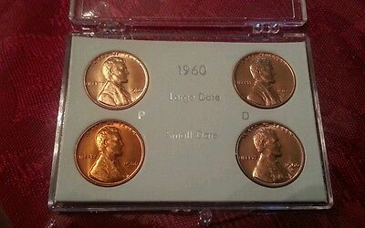 $15 • Buy 1960-p 1960-d Small Large Date Lincoln Penny Cent Set - Gem Bu!!!