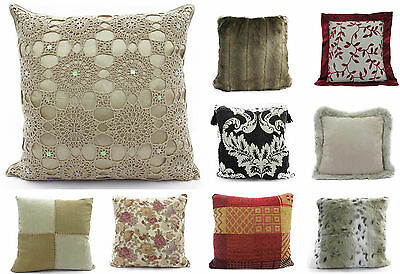 Small Large Cushion Covers Sofa Throw Scatter Luxury Cushions Chenille Floral • 3.50£