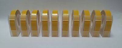 £15.50 • Buy Dymo Compatible 9mm Embossing Tape (Yellow)(10 Rolls) (3 Metres Per Roll)
