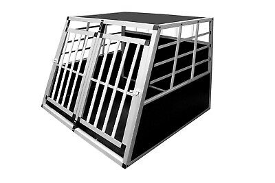 View Details Aluminium Dog Pet Cage Transport Crate Car Travel Carrier Box Dog Kennel Carrier • 55.99£