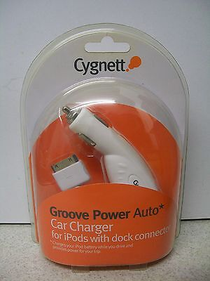 Cygnett Groove Power Auto Car Charger For IPods With Dock Connector NEW SEALED • 11.99£