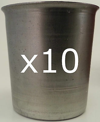 10 Seamless Votive Candle Making Moulds ~ Top Quality Metal ~ Soy Paraffin Wax • 13.59£