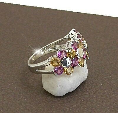 AU29.99 • Buy Ring  Jewellery Jewelry 925 Sterling Silver Cz Cocktail Ring  Size 7.5 Or O