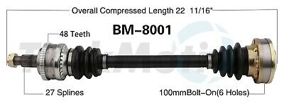 $60.37 • Buy For BMW E30 Axle Driveshaft Drive Half Shaft Assembly 318i 325i 325is M3 W/ ABS