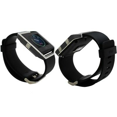 AU23.39 • Buy Skinomi Brushed Steel Skin & Screen Protector For Fitbit Blaze