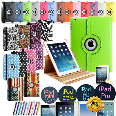 $5.99 • Buy 360 Rotating Leather Folio Case Cover Stand For Apple IPad Mini 2 3 4 Air Pro