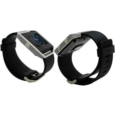 AU23.39 • Buy Skinomi Silver Carbon Fiber Skin & Screen Protector For Fitbit Blaze