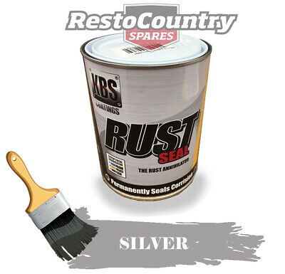 AU89 • Buy KBS RustSeal SILVER One 1 Litre Rust Seal Paint Rust Preventive Coating