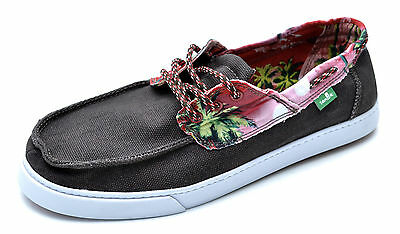 Sanuk TROPICAL SHIPWRECKED Brown Canvas Sidewalk Surfers Sneakers Men's - NEW • 36.42£