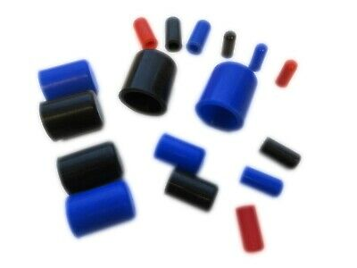 Silicone Blanking Plugs (End Caps, Pipe Finisher) 4mm - 25mm ID Sizes, 3 Colours • 3.49£